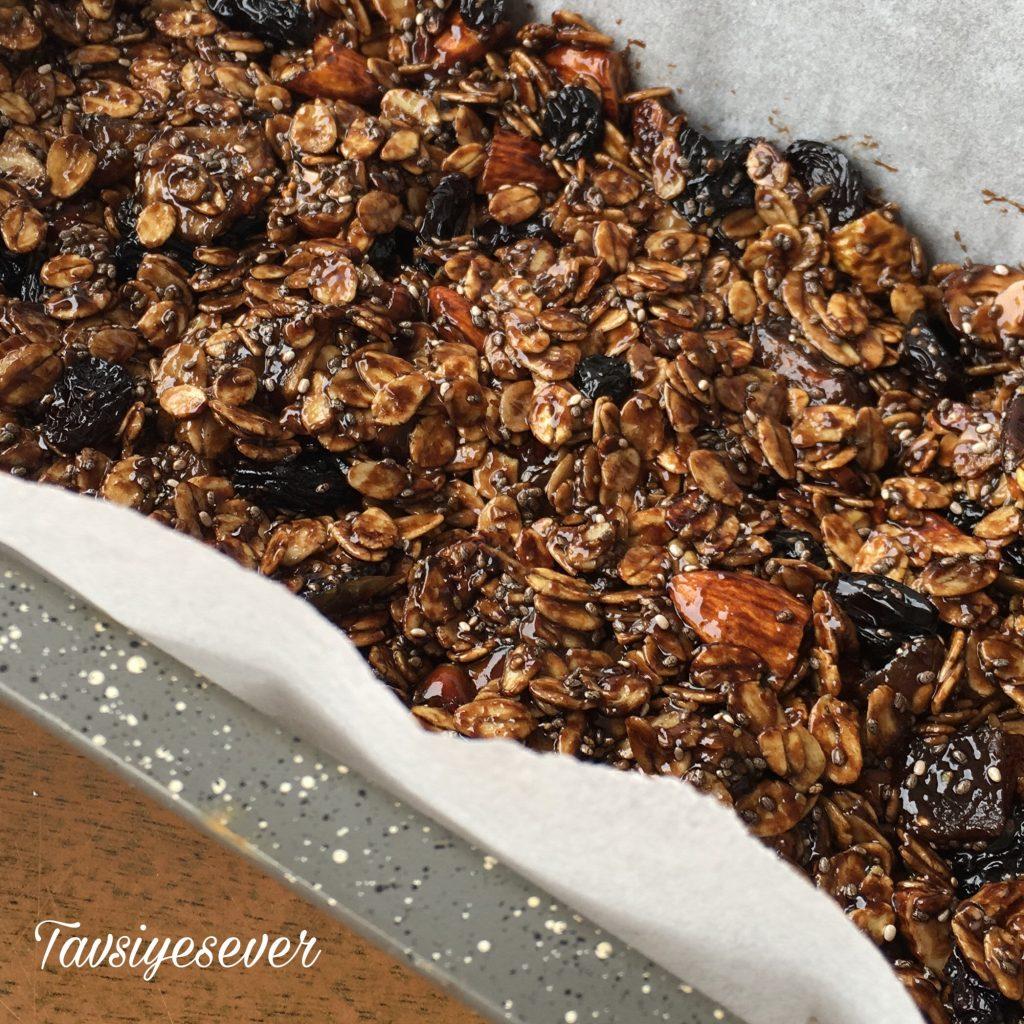Evde granola bar tarifi